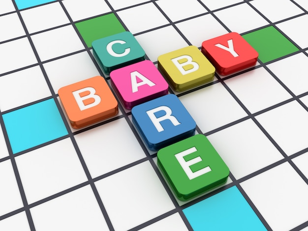 Kreuzworträtsel baby care