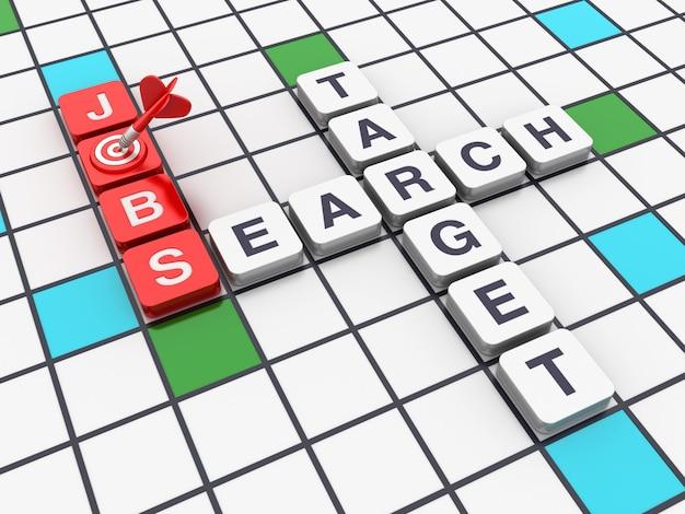 Kreuzworträtsel job search target aus blöcken