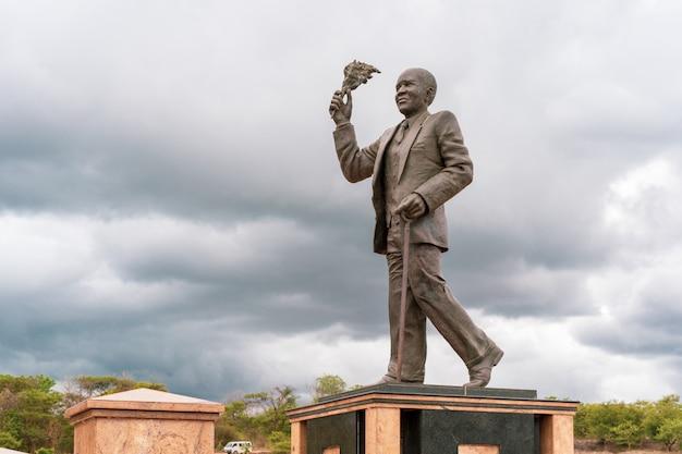 Kriegsdenkmal für afrikanische gewehre des königs in zomba malawi.