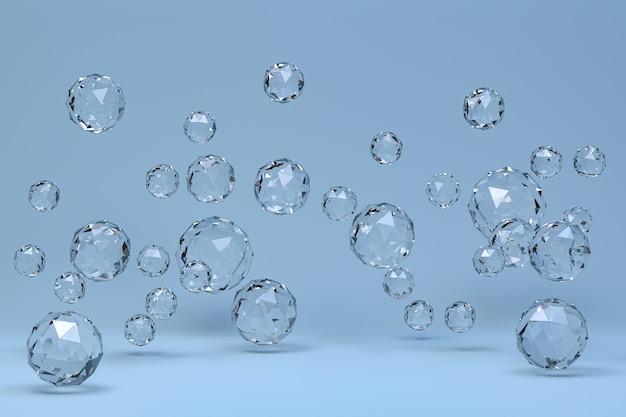 Kristallkugel abstrakt auf blau