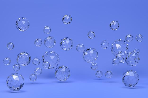Kristallkugel abstrakt auf blauem hintergrund
