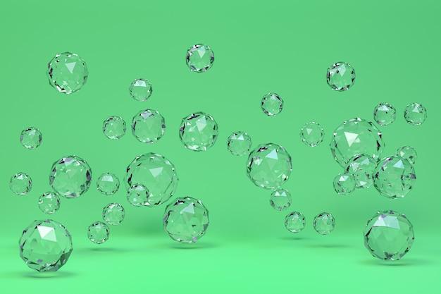 Kristallkugel abstrakt auf grün