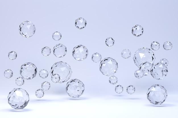 Kristallkugel abstrakt auf weißem hintergrund