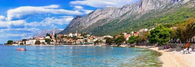 Kroatien malerisches gradac dorf mit schönem strand. makarska riviera