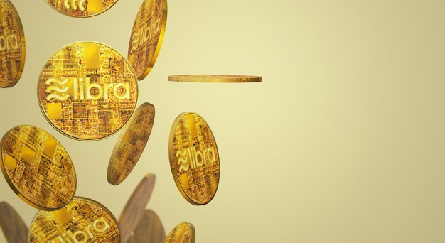 Kryptowährungsinhalt wiedergabe-waage facebook 3d der goldmünze.