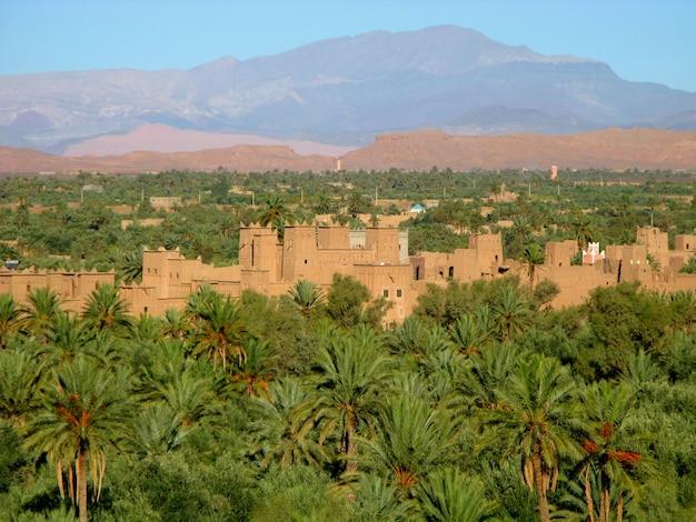 Ksar - berberhaus, ouarzazate, marokko