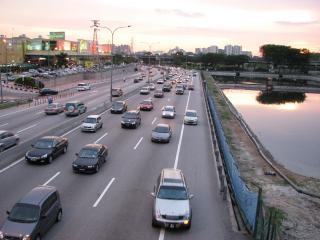 Kuala lumpur autobahn ansicht, malaysia