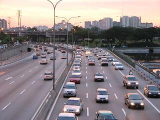 Kuala lumpur autobahn blick