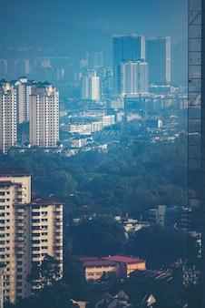 Kuala lumpur city center skyline
