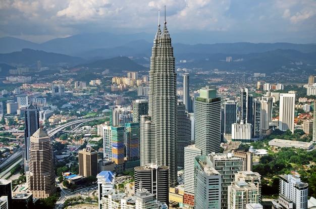 Kuala lumpur und die umliegenden städtischen gebiete