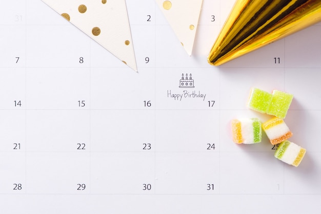 Kuchen auf kalender alles gute zum geburtstag schreiben
