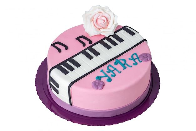 Kuchen für den musiker am tag der geburt.
