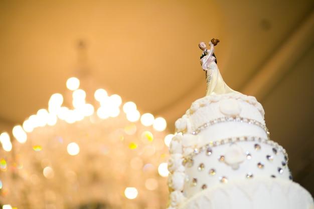 Kuchen in der hochzeitszeremonie