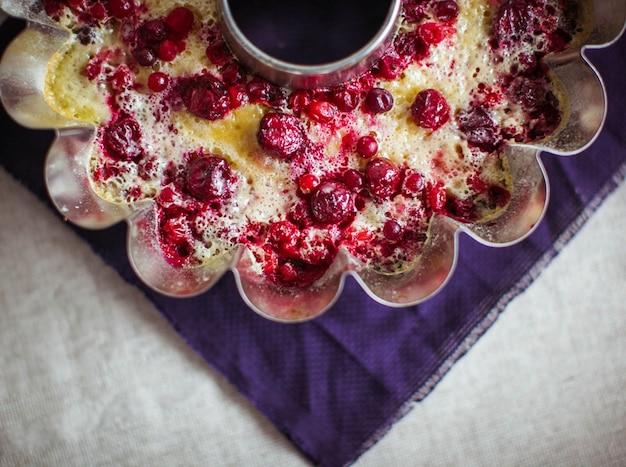 Kuchen innerhalb einer form