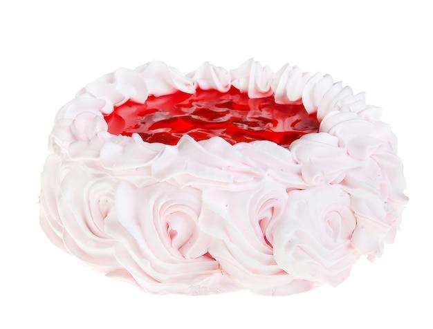 Kuchen isoliert auf weißem süßem essen