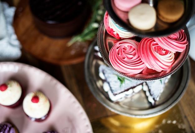 Kuchen-köstliche nachtisch-bäckerei-ereignis-teeparty