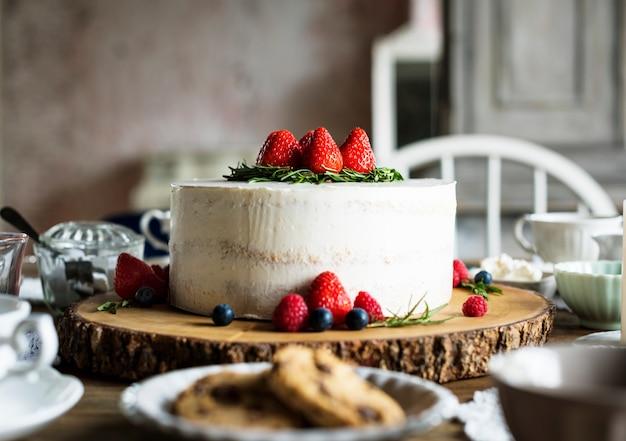 Kuchen-köstlicher nachtisch-bäckerei-ereignis-partei-empfang