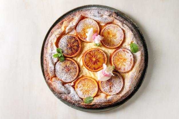Kuchen mit blutorange