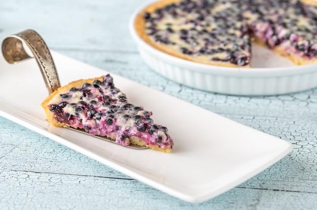 Kuchen mit frischen blaubeeren
