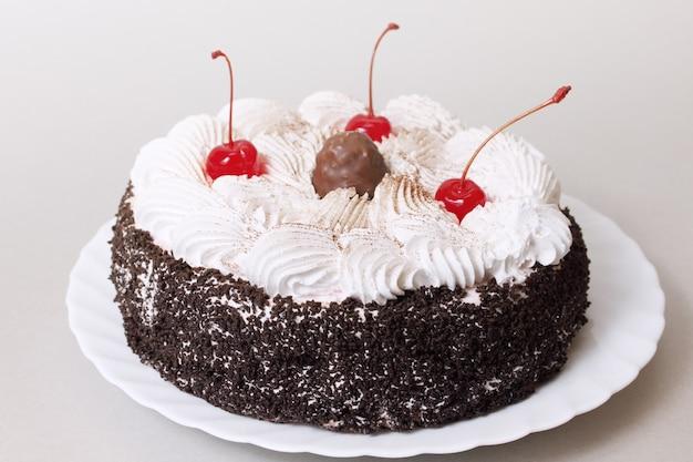 Kuchen mit kirschen