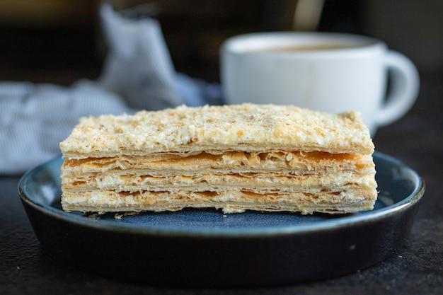 Kuchen napoleon blätterteig kuchen dessert süßen imbiss zum mitnehmen