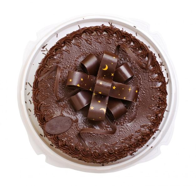 Kuchenschokolade lokalisiert auf weißem hintergrund