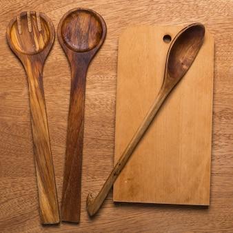 Küche. holzutensilien
