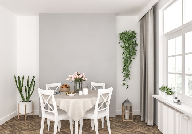 Küche mit leeren wand