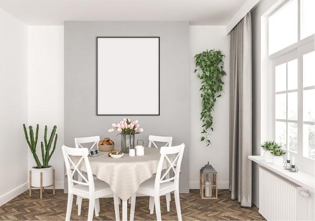 Küche mit vertikalem rahmen