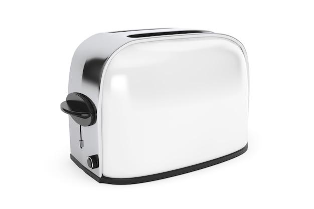 Küchengerät. vintage white toaster auf weißem hintergrund