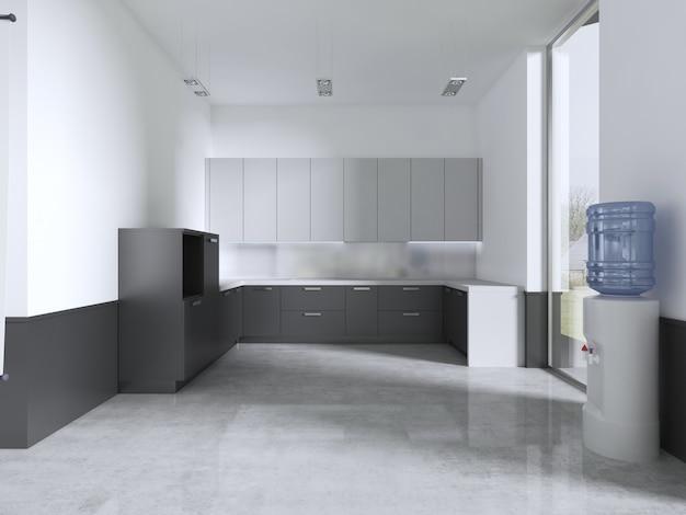 Küchenmöbel im klassenzimmer. 3d-rendering