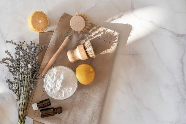 Küchenreinigungswerkzeuge ohne abfall