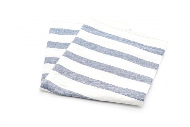 Küchenstoff (serviette) auf weißem hintergrund