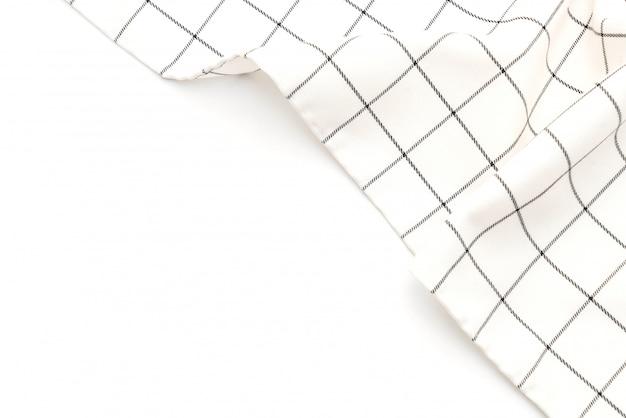 Küchentuch (serviette) auf weißem hintergrund