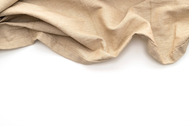 Küchentuch (serviette) isoliert auf weiß