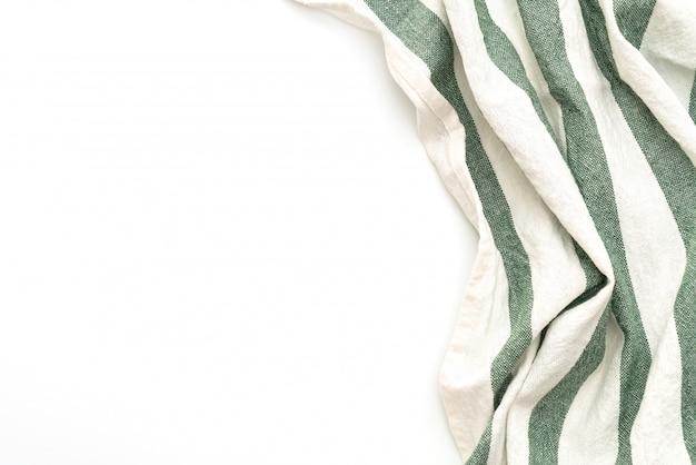 Küchentuch (serviette) isoliert auf weiss