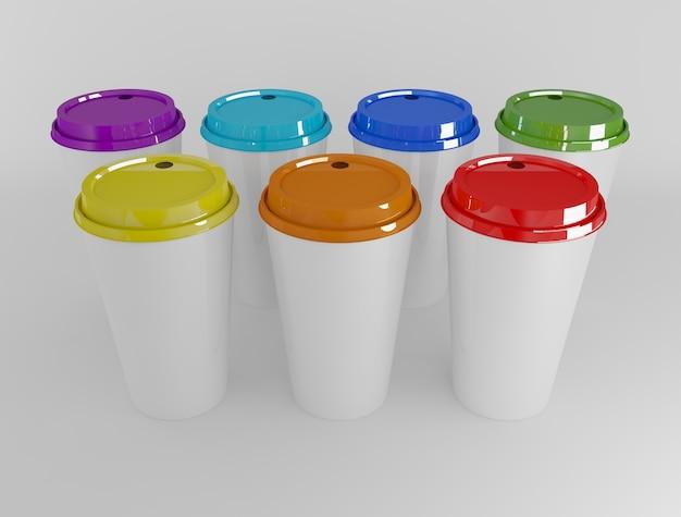Kühle getränk cup bunte isoliert