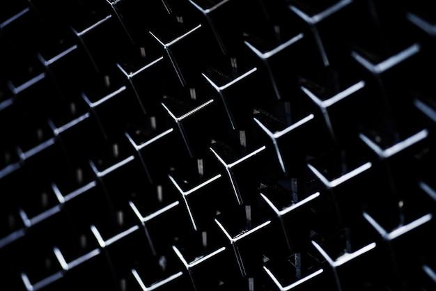 Kühlergrill des schwarzen autos des hintergrundes