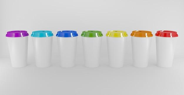 Kühles getränk cup bunt lokalisiert