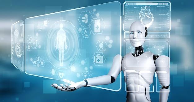 Künftige medizintechnik gesteuert von ki-robotern mit maschinellem lernen