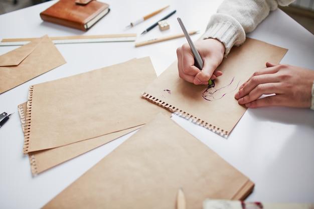 Künstler der wahrnehmung seiner kreativität