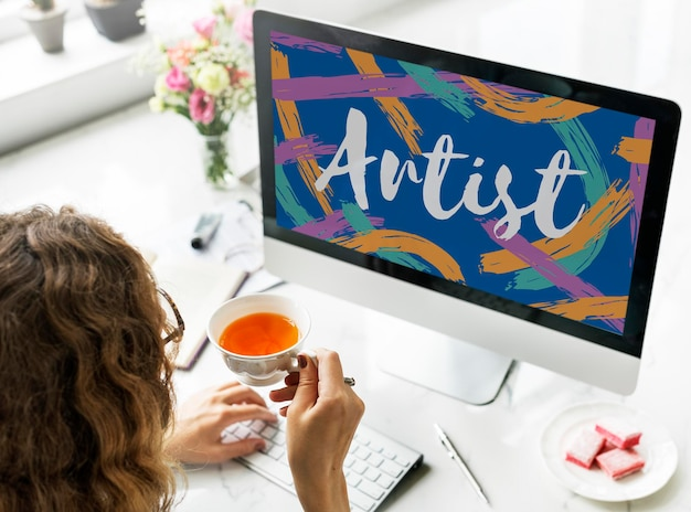 Künstler-kunsthandwerk-erstellung kreatives vorstellungskonzept