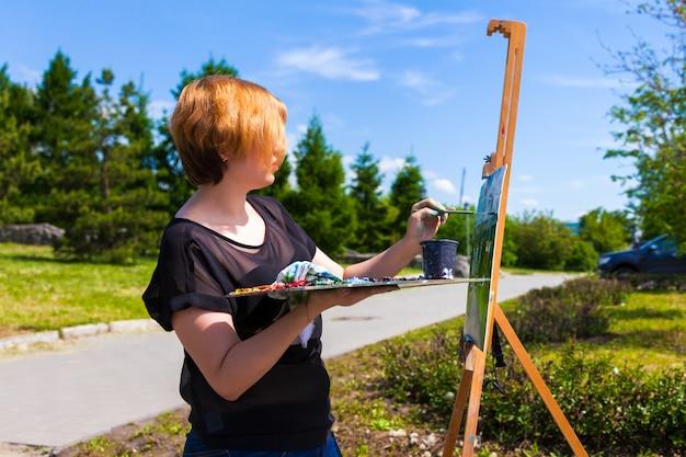 Künstler schmerzt sommerpark