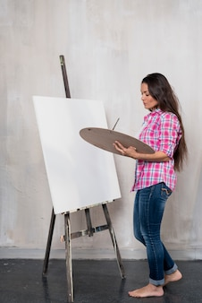 Künstlerin malerei