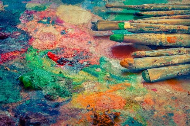 Künstlerische pinsel