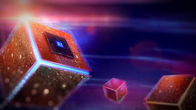 Künstliche intelligenz (ai), maschinelles lernen, technologie- und ingenieurkonzept.