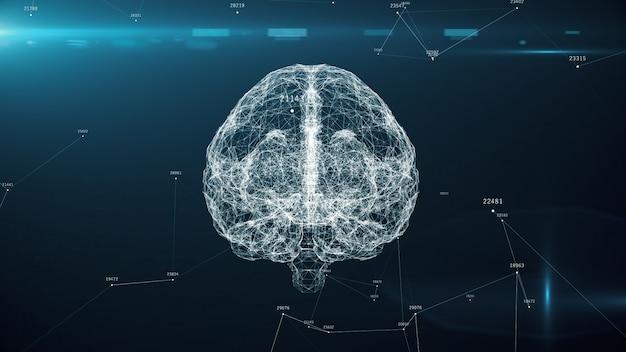 Künstliche intelligenz des digitalen gehirns