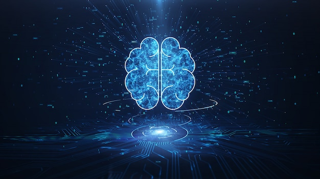 Künstliche intelligenz gehirn animation