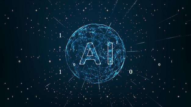 Künstliche intelligenz und maschinelles lernkonzept.