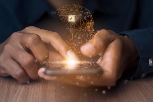Künstliche intelligenz verbindet moderne technologie.